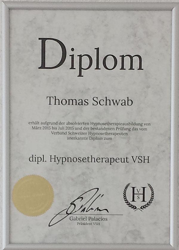 Diplom Hypnosetherapeut VSH